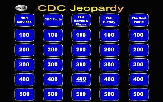 Main Jeopardy Screen