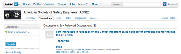 Sample Linkedin Question